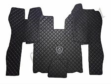 Set of LHD Floor Mats Cover For SCANIA R 2004-2013 AUTOMAT BLACK Eco Leather.