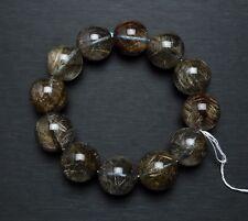 19mm Natural Quartz Silver Hair Rutilated Crystal Bracelet