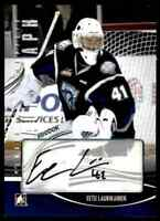 2012-13 ITG Heroes And Prospects Autographs Eetu Laurikainen RC Auto . #A-EL