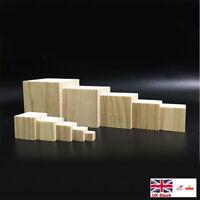 20 x Wooden Square Coaster Shapes Large Plain Wood Squares 100mm J1R5