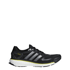 adidas Energy Boost M Black Yellow Iron Running Shoes Mens Size 9.5 G64392 47e4bde14