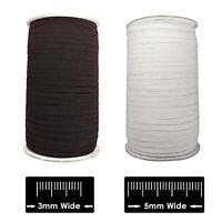 Plat Blanc Élastique Noir Cordon 3mm 5mm Visage Masque Couture Loisirs Créatifs