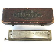 Vintage Entubado M Hohner Super Chromonica cromática 15.5 Cm