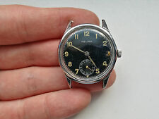RARE WW2 German HELIOS DH Military watch Wehrmacht A.S.1130 SERVICED