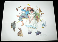 Norman Rockwell Sweet Song So Young Four Seasons Series Print 2 Vintage 1970s