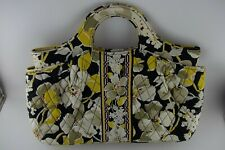 Vera Bradley Small Tote Purse Hand Bag, DOGWOOD Floral Black Retired Print