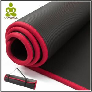 Extra Thick Yoga Mat Fitness Exercise Non-Slip Gym Pad With Bandages For Athlete