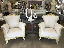 SALE! PAIR of French Style Vintage Chairs Armchairs