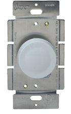 Rotary Light Dimmer Single Pole Switch for Incandescent Lighting, LED Locator