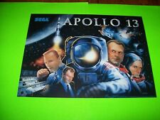 Sega APOLLO 13 Original NOS Pinball Machine Translite Art Kevin Bacon Tom Hanks