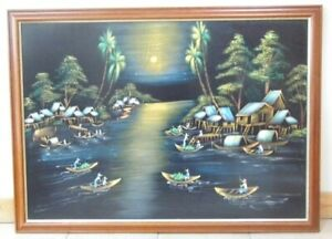 1970's retro wall panel picture LARGE stunning impact