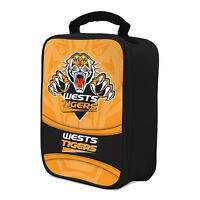NRL Wests Tigers COOLER BAG Zip opening insulated Drink School Lunch Box