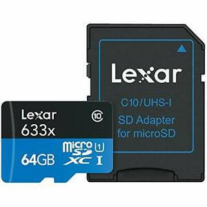Lexar International LSDMI64GBBNL633A 64gb High Performan 633x Microsdhc Uhs-i