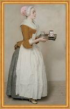 Das Schokoladenmädchen Jean-Etienne Liotard Originalgröße Kakao B A1 02515