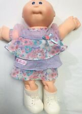 Cabbage Patch Doll Bald Pink Outfit W/shoes Vintage Rare 1978 1982