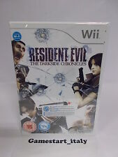RESIDENT EVIL THE DARKSIDE CHRONICLES - NINTENDO WII - NUOVO SIGILLATO NEW