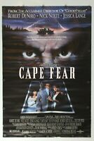 """Cape Fear 1991 Double Sided Original Movie Poster 27"""" x 40"""""""