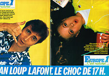 PUBLICITE ADVERTISING 124  1981  EUROPE 1 radio   JEAN LOUP LAFONT le choc (2p)