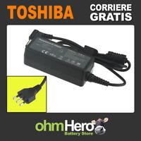 Alimentatore 19V 1,5A 30W per Toshiba Satellite U940