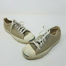 Vintage 70's 80's Jack Purcell Converse Sneakers Shoes Made In USA 6 Tan Khaki