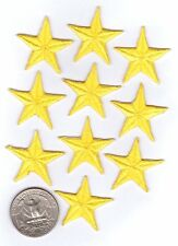 Yellow Star Iron On Patches - 10-pack
