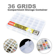 36 Compartment Storage Box Jewelry Organizer Container Case Removable Dividers