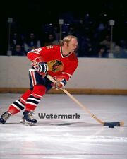 NHL 1960's Chicago Black Hawks Bobby Hull Golden Jet Color  8 X 10 Photo