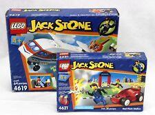 2002 Jack Stone Lego Sets A.I.R. Patrol Jet # 4619 Red Flash Station # 4621