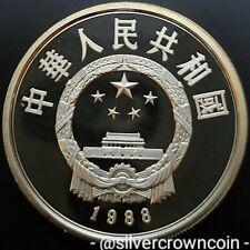 SCC China 10 Yuan 1988. KM#213. Silver Proof Crown coin. Ibis. Bird. Ultra Cameo
