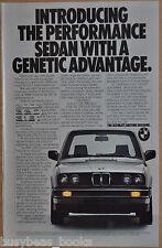 1983 BMW 318i advertisement, Bavarian Motor Works 318i, Genetics