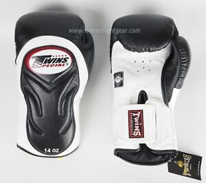 Twins Special Boxing Gloves BGVL-6 White/Black 12 oz Express Delivery