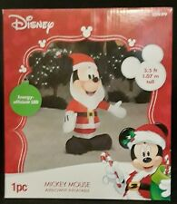 DISNEY MICKEY MOUSE SANTA CLAUS CHRISTMAS INFLATABLE LED 3.5 FT TALL NEW IN BOX