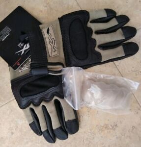 WILEY X TACTICAL FLAME RESISTANT COMBAT GLOVES HYBRID KNUCKLES REMOVABLE SMALL
