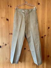 Vintage 1967 Military Vietnam Era Khaki Chino Uniform Trousers size 33x31 31x31