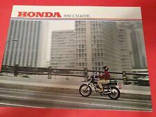 1981 Honda CM400 E Motorcycle Sales Brochure - Literature