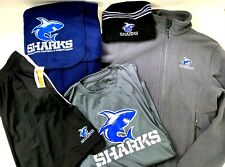 Sharks SciCoh Youth Football Lot Mixed Gear Apparel Fleece Blanket Hat Clothes