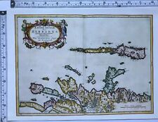 Historic Antique vintage Old Map Hebrides Western isle of Scotland 1600s REPRINT