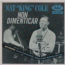 NAT KING COLE: Non Dimenticar USA CAPITOL EP 45 w/ PS Jazz Vocals '58
