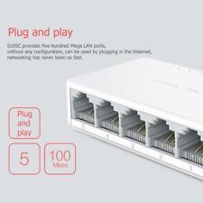 5 Port Desktop Ethernet Network Switch 10/100Mbps LAN Hub Splitters Adapter