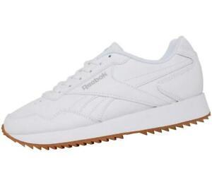 Reebok Women's Royal Glide Ripple UK 5.5 & UK 6.5 Leather Running Trainers Shoes