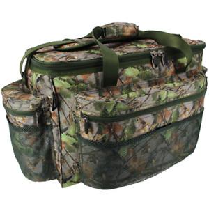Brand New  Large Green Camo Carp Pike Coarse Fishing Tackle Bag Holdall