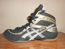 Asics Split Second Wrestling Shoes Blk Grey Silver JY802 US Size 9.5