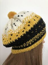 Hand Knits 2 Love Hat Slouch Beanie Beret Cap Designer Fashion Female Winter