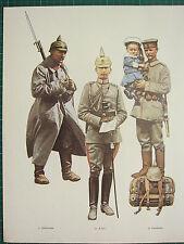 VINTAGE WW1 WWI PRINT PRUSSIA LANDWEHR INFANTRYMAN 4tH FOOT GUARD BERLIN A.D.C