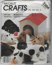 McCall's VTG Sewing Pattern 2504 Pound PUPPY PALS & HOUSE, Plush, Stuffed Animal