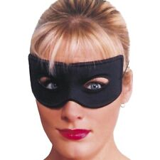 Unisex Bandit Eye Mask Fancy Dress Plain Black Costume Masquerade Robber Thief