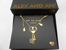 Alex and Ani Key to Love Expandable Necklace Rafaelian Gold NWTBC