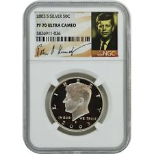 2003-S Proof Silver Kennedy NGC PF70 Ultra Cameo Kennedy Signature
