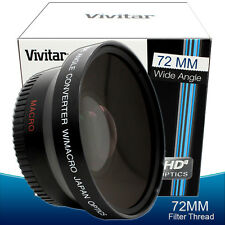 Vivitar Wide Angle Lens for 72MM Canon Rebel T6i T5i T4i T3i T2i T5 T3 Sl1 70D