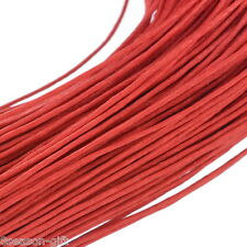 "80M(3149-5/8"") Red Waxed Cotton Cord 1mm for Bracelet/ Necklace"